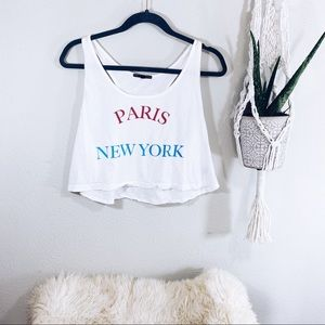 Truly Madly Deeply Crop Top Paris New York M
